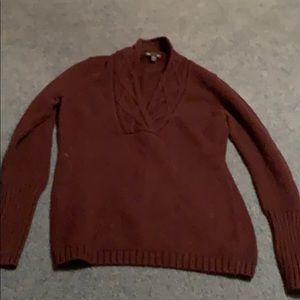 Gap purple deep v sweater